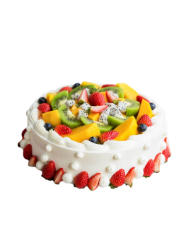 Fresh Cream Birthay Cake