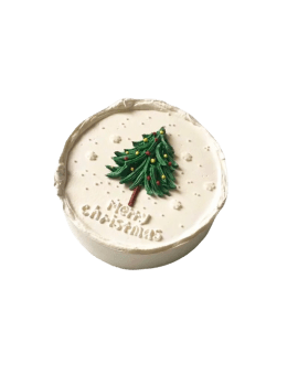 Christmas Fresh Cream Birthday Cake - Merry Christmas  Cake
