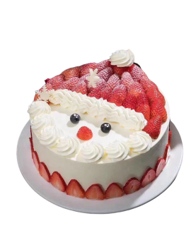 Christmas Fresh Cream Birthday Cake -Santa Claus