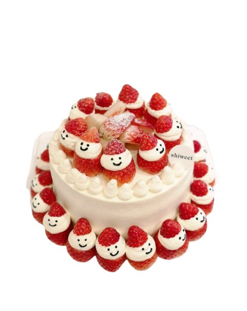 Christmas Fresh Cream Strawberry Birthday Cake