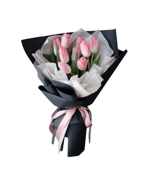 9 Pink Tulips