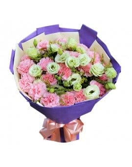 21 Pink Carnations