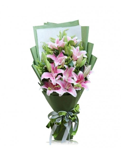 21 Pink Lilies