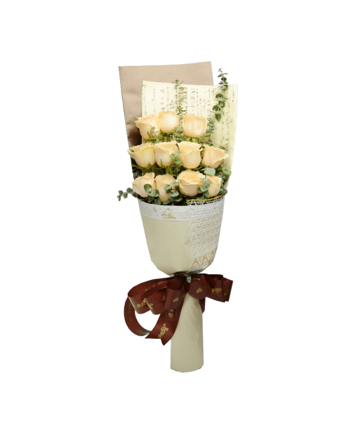 11 Champagne Roses