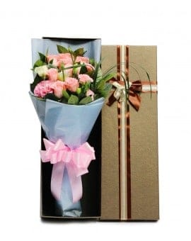 11 Pink Roses in Luxuy Box