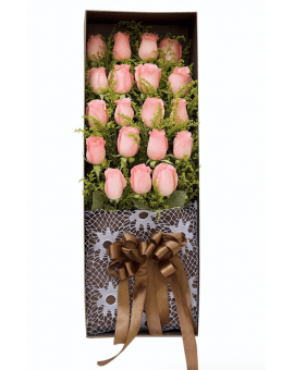 19 Pink Roses in Luxuy Box